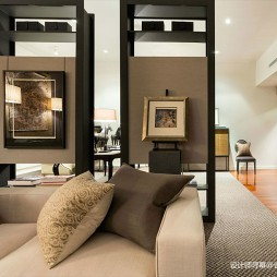 阁楼低语loft小户型玄关装修设计图