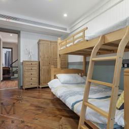 安徒生的色彩北欧复式上下床儿童房设计图