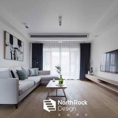 三居住宅现代风格中性色客厅装饰设计图