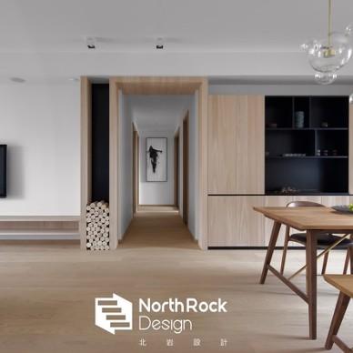 三居住宅现代风格木质过道装饰设计图