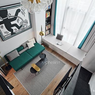 夏末.知遇现代小户型住宅客厅装饰设计