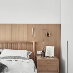 淡雅如你日式风格复式床头柜设计图