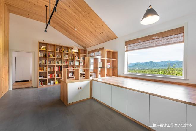 原木舒适的北欧风格休闲区设计