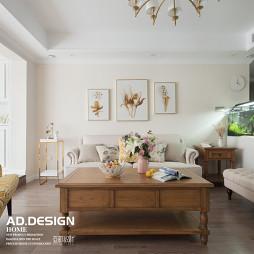 美式三居客厅设计实景