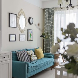 北欧风格三居客厅--设计