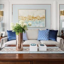 美式小三居-客厅设计