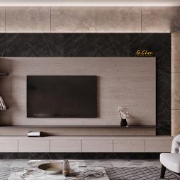 现代感电视背景墙