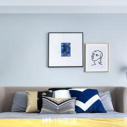 现代干净卧室背景墙设计