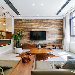 混搭原木客厅设计