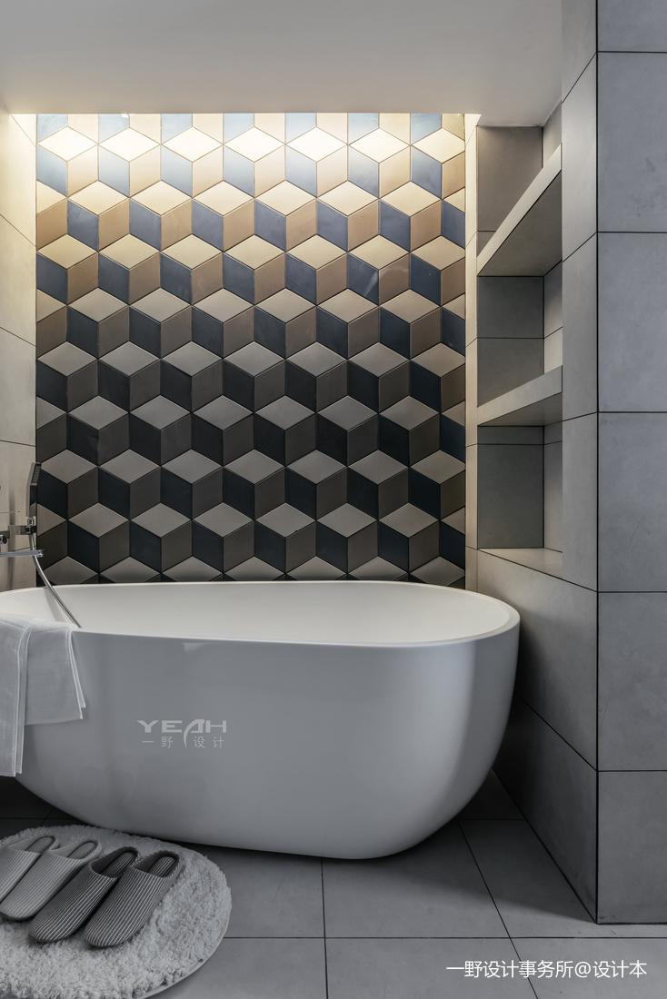 简约风格之绿地晶萃卫浴局部设计图