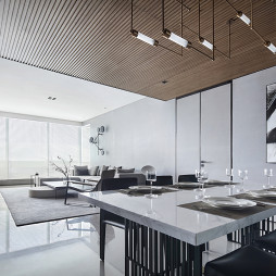 现代风格之非凡格调餐饮客厅设计图