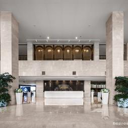 混搭风格莱绅通灵企业文化展厅前台咨询设计图