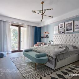 现代风格温馨浅绿房间