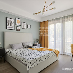 现代风格温暖小房间设计图