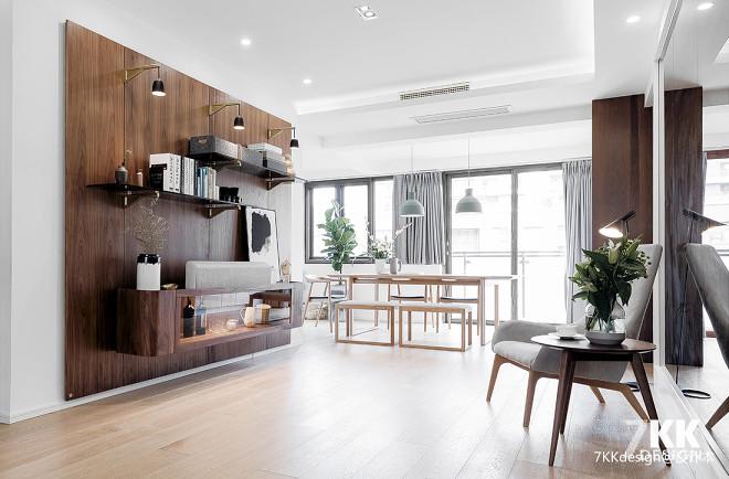 北欧风格清新森系客厅设计图