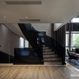 现代风格楼梯一侧设计图