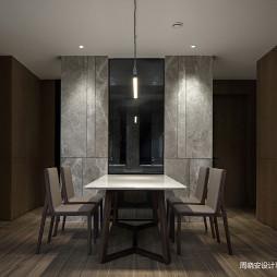 现代风格餐饮客厅一侧设计图