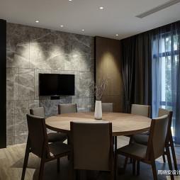 现代风格餐饮客厅黑灰色调设计图