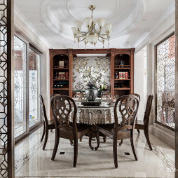 美式风格,圆形餐桌设计图