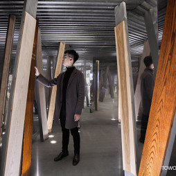混搭风格原木优雅展品展览设计图