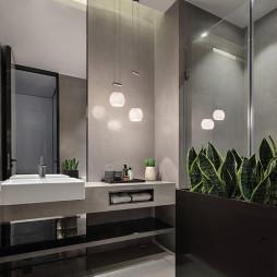 现代风格高雅浴室设计图