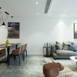 黑白现代二居客厅图