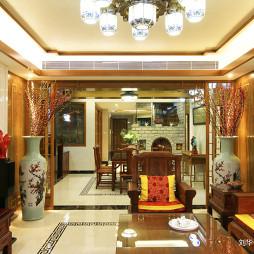 温暖的中式风格别墅客厅设计