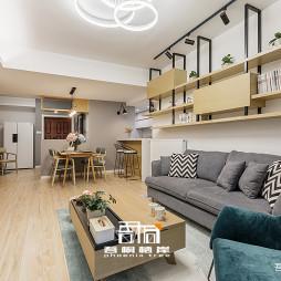 现代二居客厅吊柜设计图