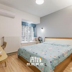 现代卧室灰色背景墙设计图片