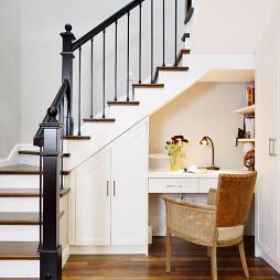 温暖的美式风格别墅楼梯设计