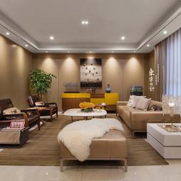 静谧的混搭风格复式客厅设计