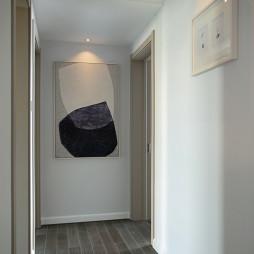 蔚蓝的现代风格三居室过道设计