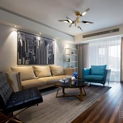 简洁的简约风格三居室客厅设计