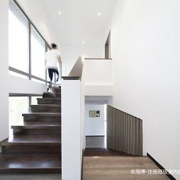 好看的混搭风格度假酒店楼梯设计