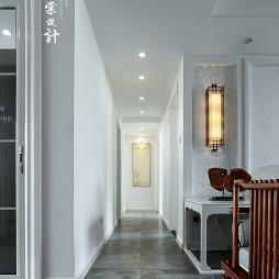 自然的中式三居室过道设计