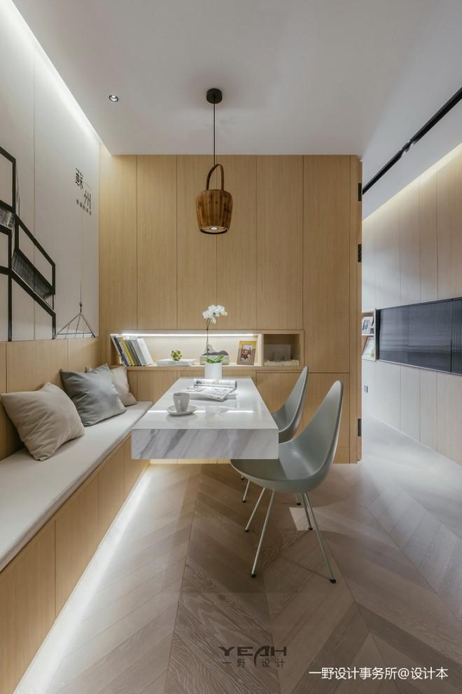 温暖的现代风格小户型客厅设计