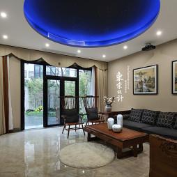 简雅的中式风格别墅视听室设计
