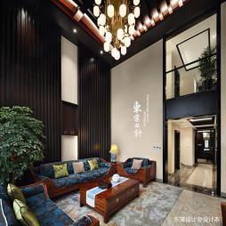 复古的中式风格别墅客厅设计