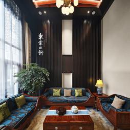 简雅的中式风格别墅客厅设计