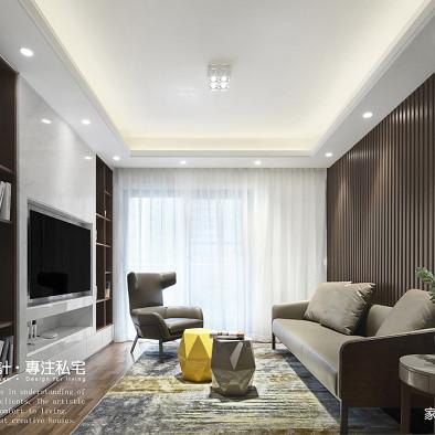 好看的现代风格三居室客厅设计