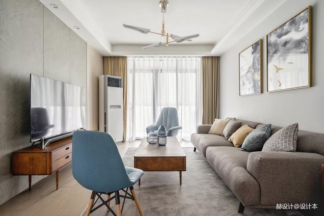 简洁实用的北欧风格二居室客厅设计