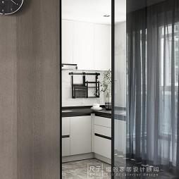 黑白灰简约风格四居室客厅设计