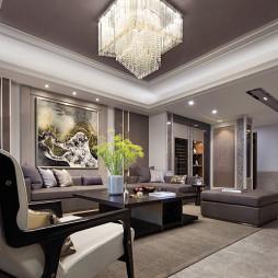 明亮的现代风格豪宅客厅设计