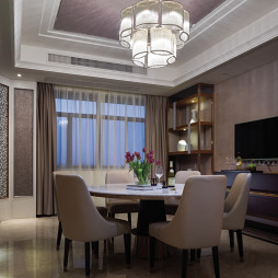 好看的现代风格豪宅餐厅设计