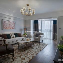 收纳控的精致美式风格客厅设计