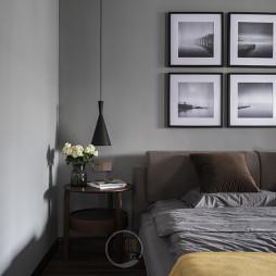 康城简约风三居卧室床头柜设计图