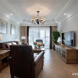 三居简约美式客厅设计