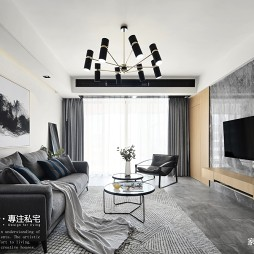 三居现代家装客厅设计