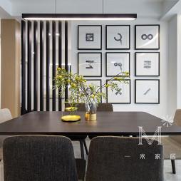 155m²现代风餐厅挂画设计图