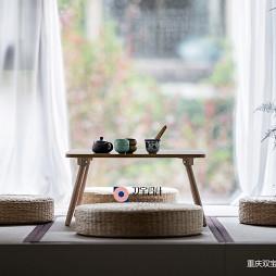 茶室搭配日式榻榻米